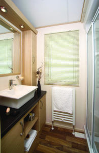 holiday home shower room
