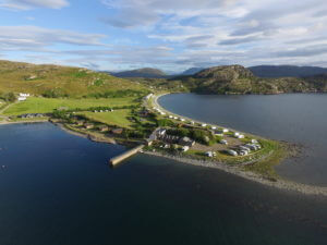 Ardmair self catering accommodation aerial 4