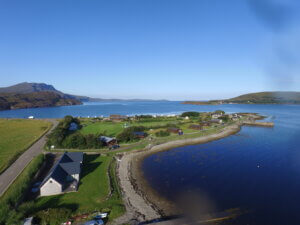 Ardmair self catering accommodation aerial 3
